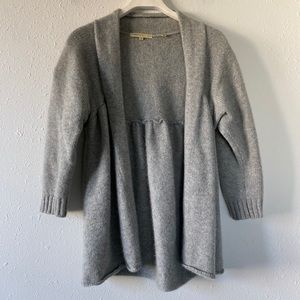 Vince Gray Cashmere Open Sweater Cardigan M